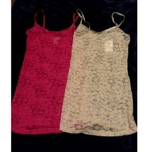 2 lace spahetti strap tops from Debs